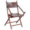 Homestead Living Franca Teak and Leather Folding Chair