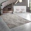 Hokku Designs Reflection Cream/Dark Grey Area Rug