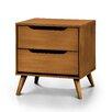 Mercury Row Mason Mid-Century Modern 2 Drawer Nightstand