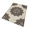 Hanse Home Lace Rug in Dark Brown/Cream