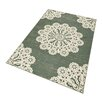 Hanse Home Lace Rug in Green/Cream