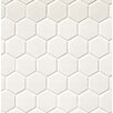 "Hexagon 2"" x 2"" Porcelain Mosaic Tile in Matte White"