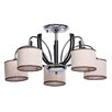Home Loft Concept Megapolis 5 Light Shaded Chandelier
