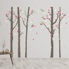 Home Loft Concept Birch Tree Forest and Swarovski Crystals Wall Sticker