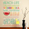 Home Loft Concept Beach Quotes and Swarovski Crystals Wall Sticker