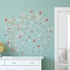 Home Loft Concept Pink Butterflies Vines and Swarovski Crystals Wall Sticker