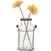 Laurel Foundry Modern Farmhouse Amphora Glass and Metal Vase