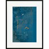 David & David Studio 'Blue, Orange 2' by Laurence David Framed Graphic Art