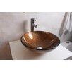 Arsumo Glass Round Vessel Bathroom Sink