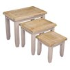 Hazelwood Home Suez 3 Piece Nest of Tables (Set of 3)