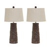 """Sinda 28.75"""" H Table Lamp with Empire Shade (Set of 2)"""