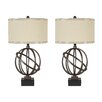 """Shadell 28.5"""" H Table Lamp with Drum Shade (Set of 2)"""