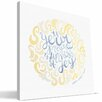 Paulson Designs Faith 'Fullness of Joy' Textual Art on Wrapped Canvas