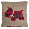 Castleton Home Heritage Scottie Dog Polyester and Acrylic Mix Scatter Cushion