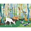 Oopsy Daisy Meeting in the Woods by Betsy Olmsted Canvas Wall Decal