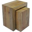 Ethnic Elements Munnar Mango Cube 2 Piece Nest of Tables