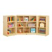 Jonti-Craft Folding 14 Compartment Shelving Unit with Casters