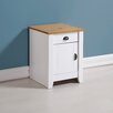 August Grove Bradmoor 1 Drawer Bedside Table