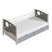 The Collection German Furniture Kewin Twin Platform Bed with Drawers