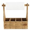 Creative Co-Op Gatherings Fir Wood Container Paper Towel Holder