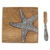 Mud Pie™ Starfish Sea Life Cheese Board and Platter Set