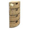Woodluv 4 Drawer Seagrass Cabinet