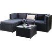 Hokku Designs Milano 3 Piece Sectional Sofa Set with Cushions