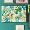 Bay Isle Home 'Tropical Palms' Framed Painting Print