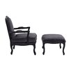 Castleton Home Rococo Hardwood Armchair and Ottoman