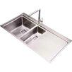 Belfry Kitchen Minimalist 100cm x 52cm 1.5 Bowl and Drainer Left Hand Main Bowl Kitchen Sink