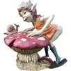 Castleton Home Pixie Talking To Snail on Mushroom Outdoor Garden Statue