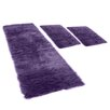 House Additions Pireo 3 Piece Berry Coloured Rug Set