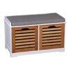 Hokku Designs Garderobenbank Kendal mit Stauraum aus Holz