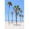 Marmont Hill 'Palms on the Beach' by Irena Orlov Painting Print on Wrapped Canvas