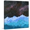 Marmont Hill 'Northern Lights' by Emily Magone Painting Print on Wrapped Canvas