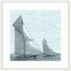 Marmont Hill 'Yacht Racing' by Didi Framed Graphic Art