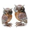 Burkina Home Decor 2-tlg. Figuren-Set Owl