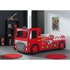Just Kids Fire Engine 101 x 223cm Car Bed