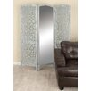 "Cole & Grey 72"" x 60"" Wood/Mirror 3 Panel Room Divider"