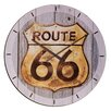 House Additions Wanduhr Route 66 Golden Sign XXL 60 cm