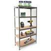 CaddiZ Heavy Duty Metal Garage 150cm 5 Shelf Shelving Unit