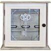 Wildon Home Distressed Wood and Glass Key Organiser