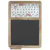 Wildon Home Distressed Wood Magnetic Calendar Chalkboard