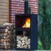 BrackenStyle Square Steel Wood Chiminea