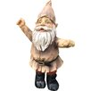 Castleton Home Celebrating Arms in the Air Woodland Gnome Outdoor Garden Statue