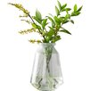 Recycled Green Bubble Glass Table Vase