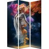 Hazelwood Home 180cm x 120cm Dreamgirls Partition 3 Panel Room Divider