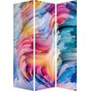 Hazelwood Home 180cm x 120cm Colourful Abstract Partition 3 Panel Room Divider