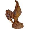 Home Loft Concept Cast Iron Rust Cockerel on Base Statue