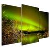 Bilderdepot24 Northern Lights II in Yukon 3-Piece Photographic Print Set on Canvas